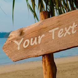 효과 Beach Sign