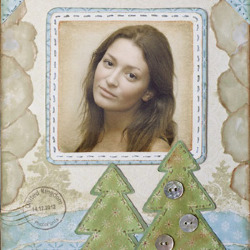 Effet Christmas Tree Postcard