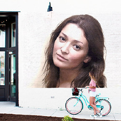 Effet Girl with Bicycle