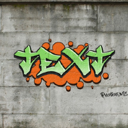 Effet Graffiti Text