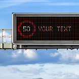 تأثير LED Road Sign