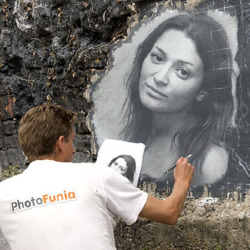Effet Portrait on the Wall