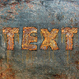 Effect Rusty Writing