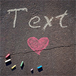 Effet Chalk Writing