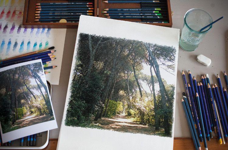 фотоэффекты цветные карандашом сомнений