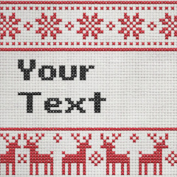 Efek Teks Cross Stitch