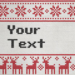 Efekt Cross Stitch Text