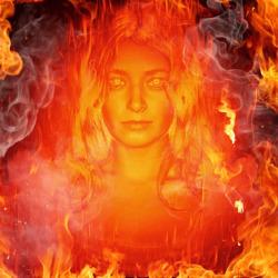 تأثير حريق