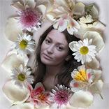 प्रभाव फूलों वाला फ़्रेम