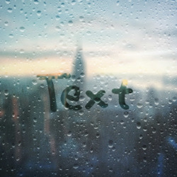 Effect Foggy Window Writing
