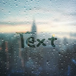 Effet Foggy Window Writing
