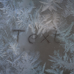 प्रभाव Frosty Window Writing