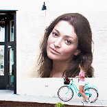 Effect Girl with Bicycle