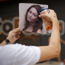 Effekt Graffiti Künstler