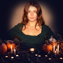 Efekt Halloween Pumpkins