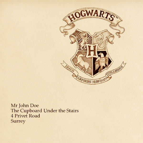 Hogwarts Letter PhotoFunia Free Photo Effects And Online Photo Editor - Hogwarts acceptance letter envelope template printable