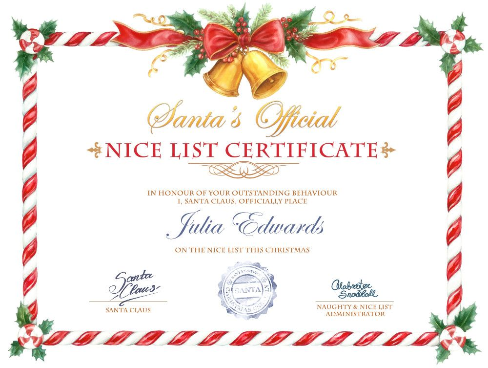 Effect. Nice List Certificate - PhotoFunia: Free photo ...