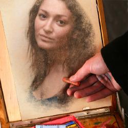 Эффект Рисунок пастелью