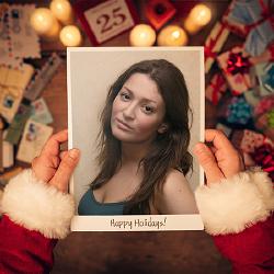 Efeito Imagem do pacote do Papai Noel