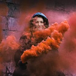 Efecto Llamarada de humo