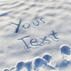 write name on snow