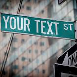 效果 Street Sign