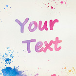Effet Watercolour Text