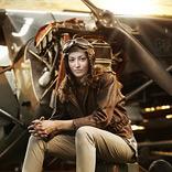 效果 女飞行员